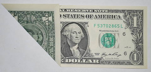 Easy Dollar Bill Origami Heart : 8 Steps - Instructables   230x480